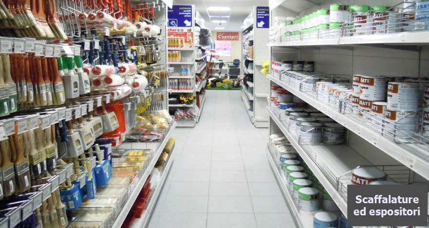 Arredamento per negozi ferramenta sardegna for Negozi arredamento cagliari