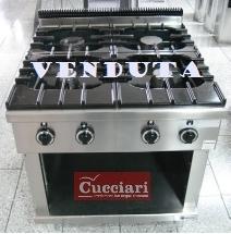 Cucina 4 fuochi professionale Sardegna Nuoro Sassari Olbia Cagliari