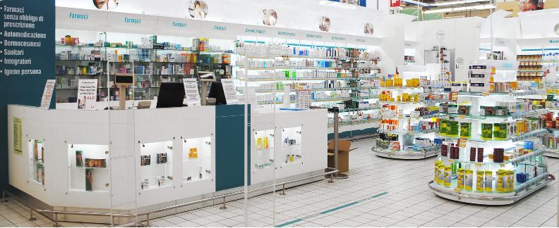 Arredamenti per negozi sardegna cucciari arredamenti for Arredo farmacia usato