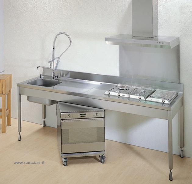 blocco cucina professionale carrellato